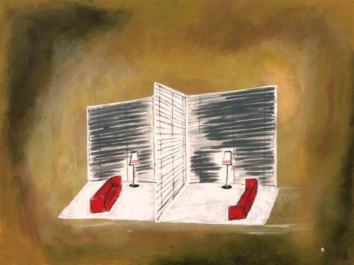 1 - Gespiegeld decor